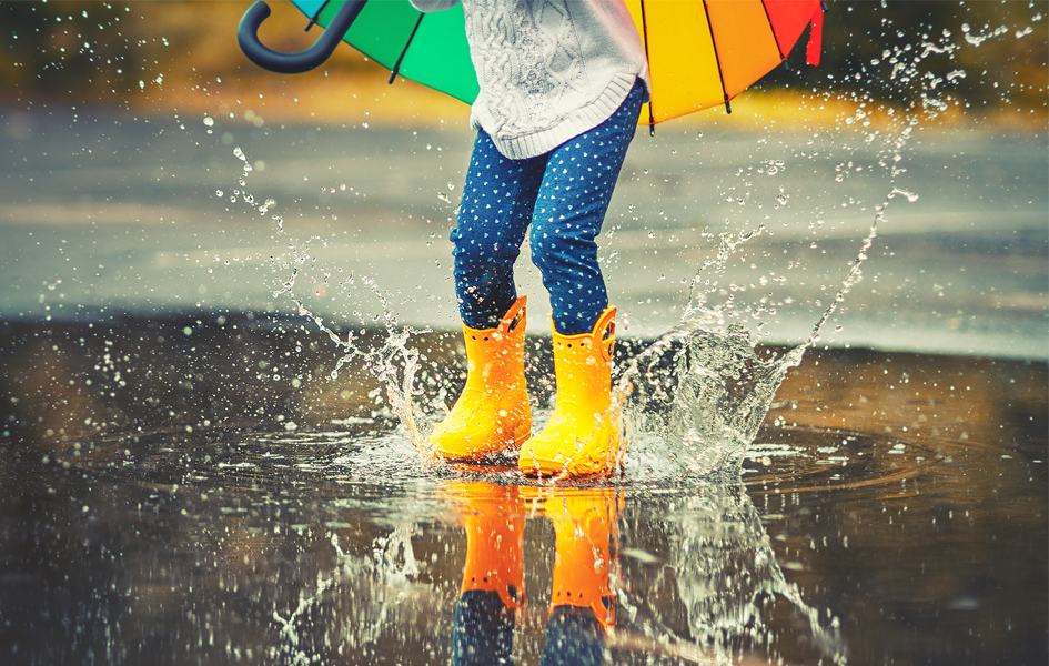 Boots, brollies and coats for kids