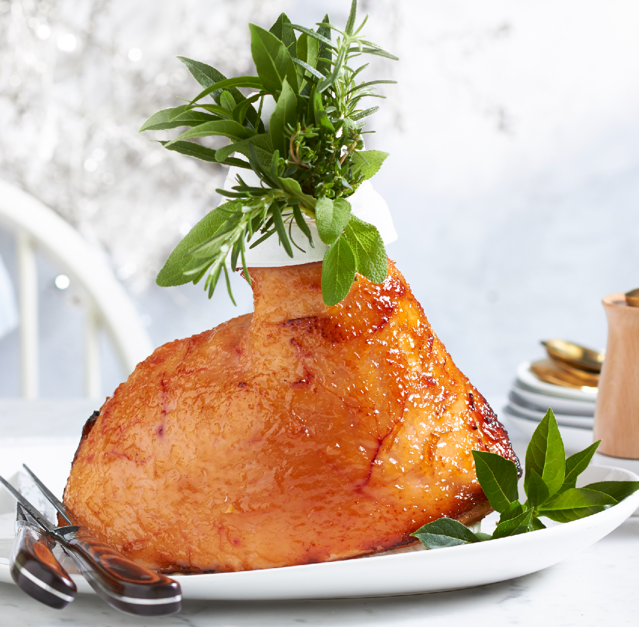 Lime And Ginger Glazed Ham