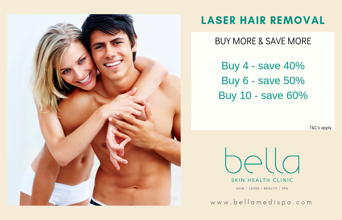 Laser hair removal buy more save more
