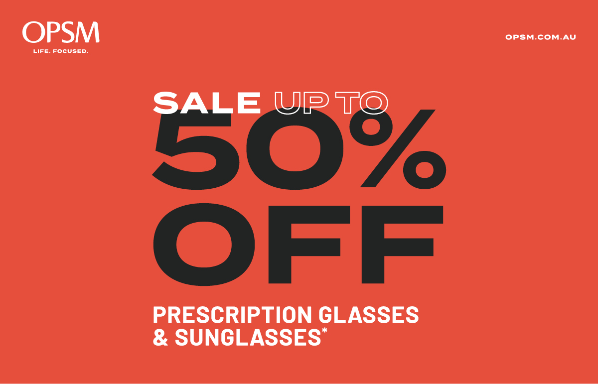 Sale Up to 50% Off Prescription Glasses & Sunglasses*