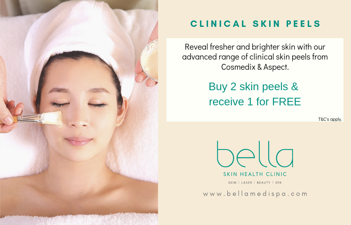 Buy 2 skin peels receive 1 free