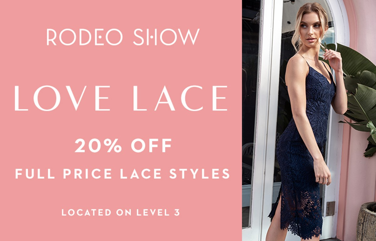 20% off full price lace